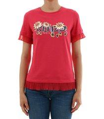 kenzo t-shirt logo flowers