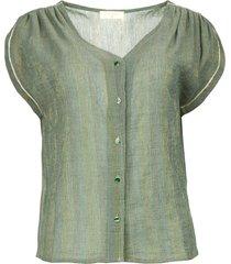 v-hals blouse albert  groen