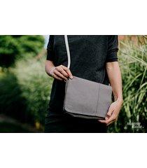 marmollada - torebka z bawełny ts na ramię szara