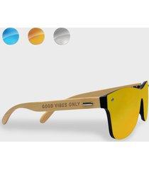 okulary przeciwsłoneczne drewniane good vibes only