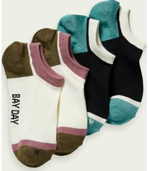 scotch & soda colour-block sneaker socks
