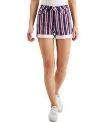 dickies juniors' americana striped denim shorts