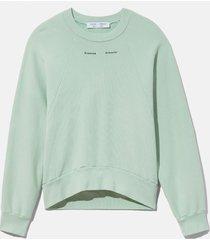 proenza schouler white label logo sweatshirt spearmint/green xl