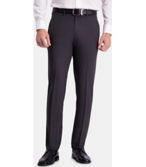 haggar men's the active series straight-fit performance stretch solid dress pants