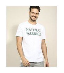 "camiseta masculina natural warrior"" manga curta gola careca branca"""