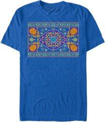 disney men's aladdin live action magic carpet portrait short sleeve t-shirt
