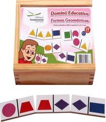 dominó educativo formas geométricas jogo com 28 peças - fundamental