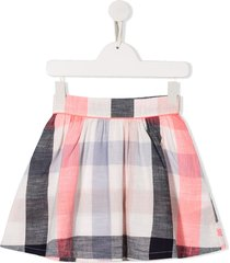 billieblush gingham check print flared skirt - pink