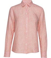 the linen chambray shirt overhemd met lange mouwen roze gant