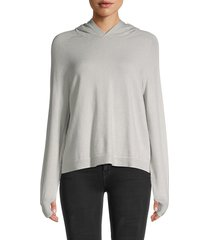 525 america women's long-sleeve hoodie - silver - size m