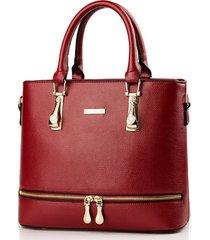 women zipper shoulder bags handbags leather women tote bags,purse l212-2