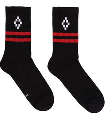 marcelo burlon logo cotton blend socks