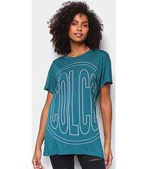 camiseta colcci big logo feminina - feminino