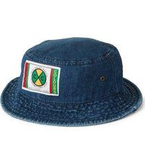 cross colours label logo bucket hat, size small in dark indigo at nordstrom