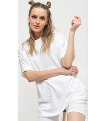 conjunto missguided coord tshirt & cycling short blanco - calce oversize