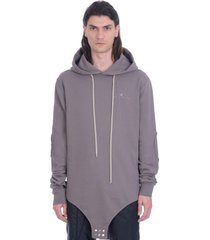 rick owens sweatshirt in grey cotton