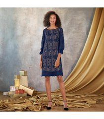 sundance catalog women's emma graceful sheath dress in sapphire petite xs