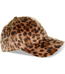 nine west faux-calf-hair baseball cap