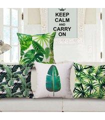 fashion cotton linen tropical plant banana leaf decorative pillow case cushion
