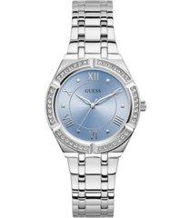 guess women's stainless steel bracelet watch 36mm