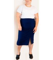 ori women's plus size french terry pencil skirt