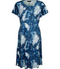 jersey jurk m. collection blauw::wit