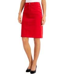 charter club velveteen pencil skirt, created for macy's