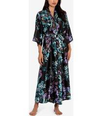 linea donatella florarl print wrap robe