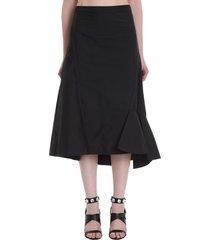 3.1 phillip lim skirt in black cotton