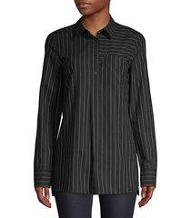casper asymmetric striped blouse