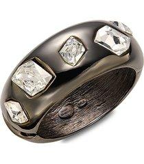 kenneth jay lane women's gunmetal-plated & crystal bracelet