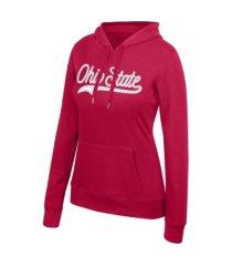 top of the world women's ohio state buckeyes essential hooded sweatshirt