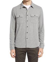 men's 7 diamonds dawnbreak button-up shirt, size medium r - grey
