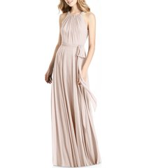 women's jenny packham crystal strap chiffon a-line gown