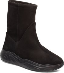 558g boot black suede shoes boots ankle boots ankle boot - flat svart gram