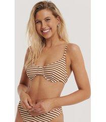 na-kd swimwear pop bikini kup-bh med struktur - brown