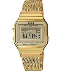 reloj casio a700wmg9adf dorado acero inoxidable