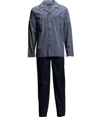 jbs, pajama button down pyjamas blå jbs