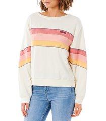 women's rip curl golden state crewneck sweatshirt, size x-large - white