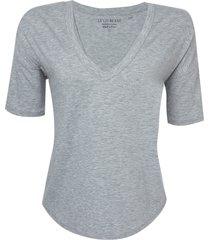 blusa morgan ii malha cinza mescla feminina (cinza mescla médio, gg)