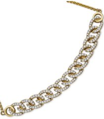 wrapped in love diamond chain link bolo bracelet (1/2 ct. t.w.) in 10k gold, created for macy's