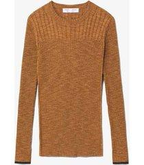 fine gauge rib knit top