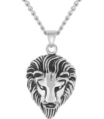 macy's men's lion's head pendant necklace