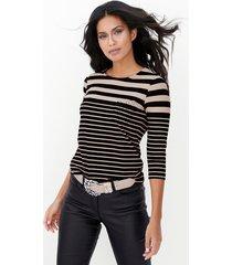 shirt amy vermont zwart::beige
