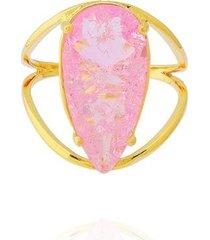 anel gota fusion dona diva semi joias feminino