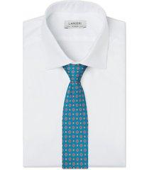 cravatta su misura, lanieri, ravenna seta petrolio, quattro stagioni | lanieri