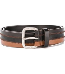 gianfranco ferré pre-owned 1990 two-tone leather belt - black