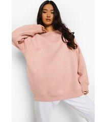 petite oversized sweater, blush