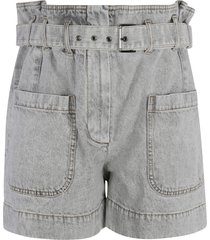 brunello cucinelli high-waist belted shorts