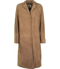 max mara suede duster coat radio brown